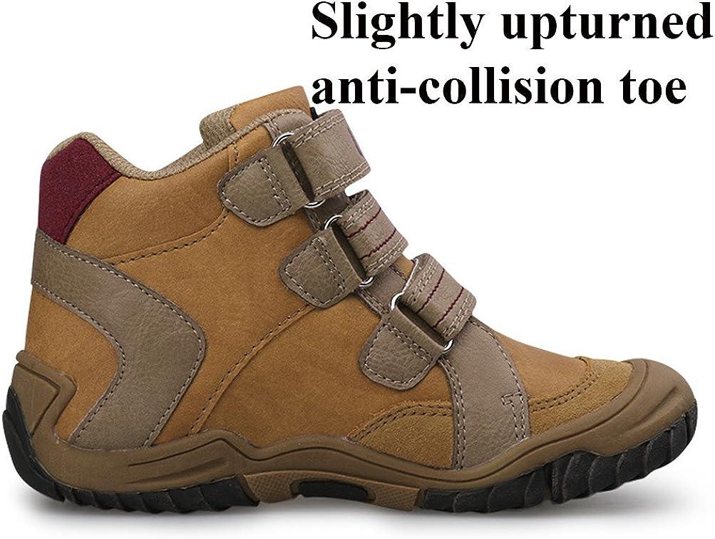 iDuoDuo Boys Waterproof Hiking Boots Anti-Collision Warm Ankle Boots Toddler//Little Kid//Big Kid