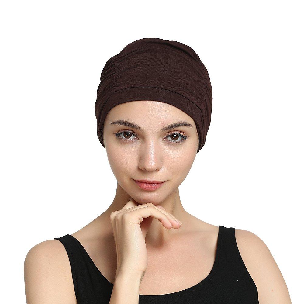 Dark Brown Bamboo Chemo Hat