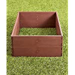 "The Lakeside Collection Raised Garden Bed Set for Vegetable and Flower Gardening 9 Perfect for vegetable or flower gardening, this convenient kit is the perfect gift for moms and dads trying to enhance the look of their yard or other outdoor space Easily assembles into one large garden box or two smaller raised beds. 8 Stakes ensure this garden kit is securely planted into the ground. Set includes: 8 Side panels, 21-1/4""W x 3/4""D x 5-1/2""H, each, 8 Stakes, 5/8"" dia. x 9-3/4""L, each"