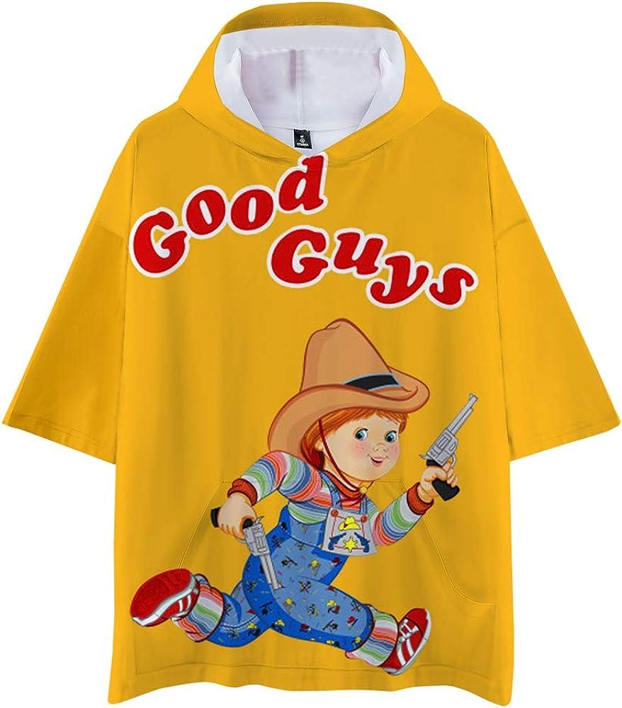Good Guys Chucky Camiseta Moda Delgado de Manga Corta Media ...