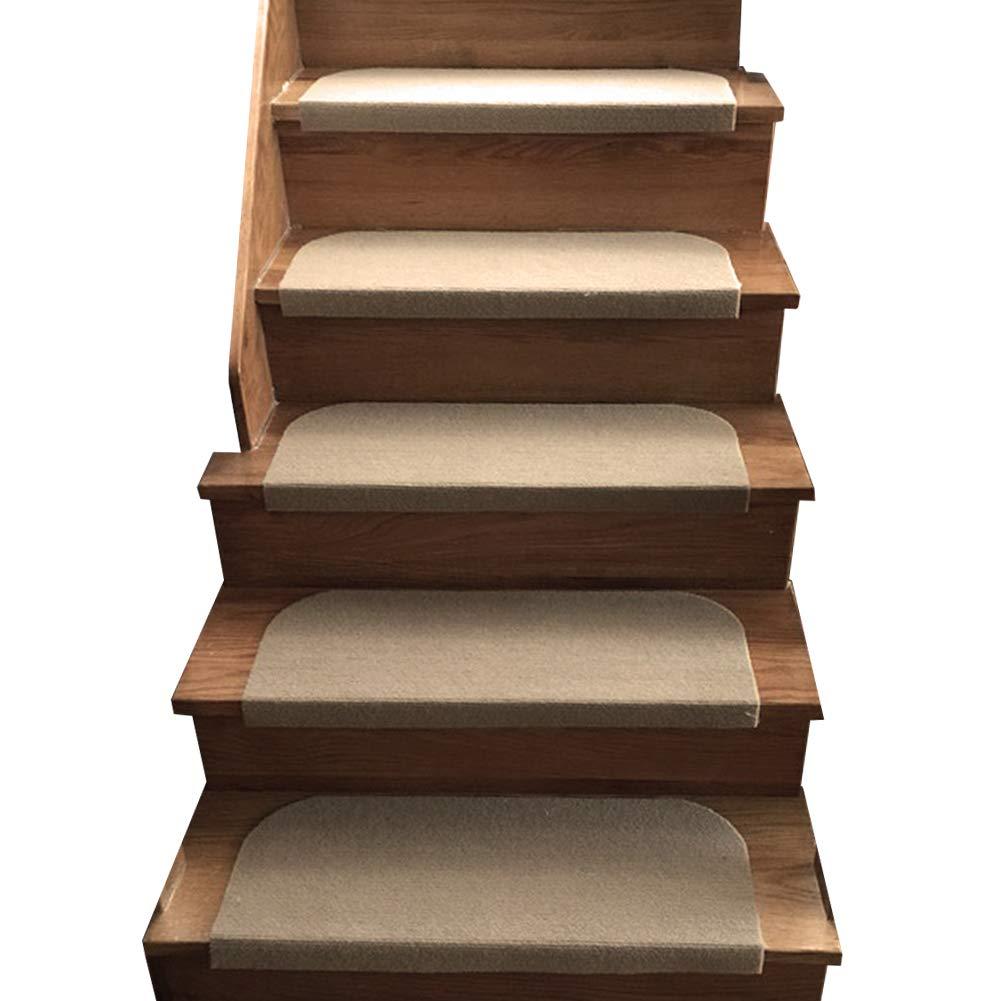 Y-Step 15 Set di pastiglie Stair Step Tappeto Antiscivolo Tappeto/Tappetino Adesivo per scalini, Coffee, 45 x 23 cm