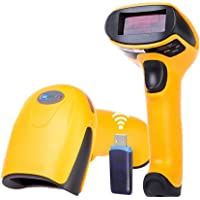 Wireless Barcode Scanner, NETUM 1D Laser Barcode Reader 433MHz USB Cordless Barcode Scanners Handhold Bar Code Scanner with USB Receiver for Warehouse, Store, Supermarket and More