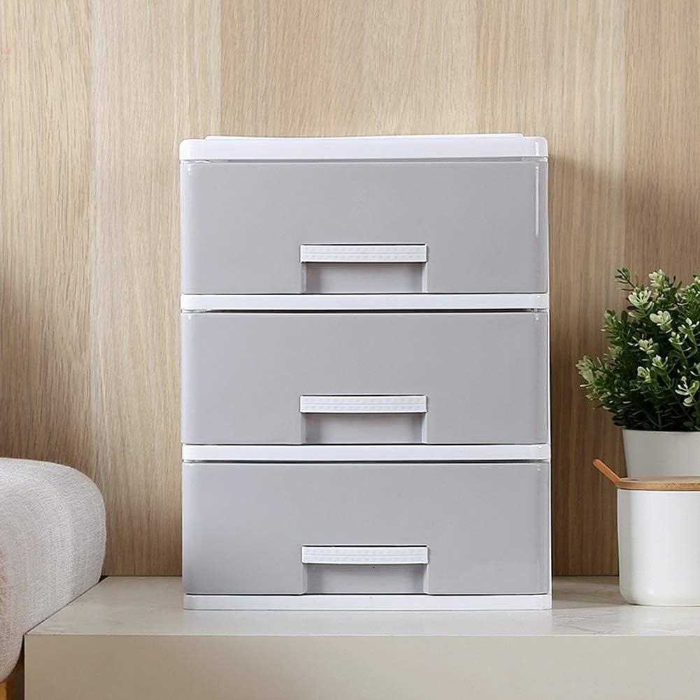 ZJH Einfacher Kleiner Schubladen-Plastikschrank Student File Storage Box auf dem Schreibtisch