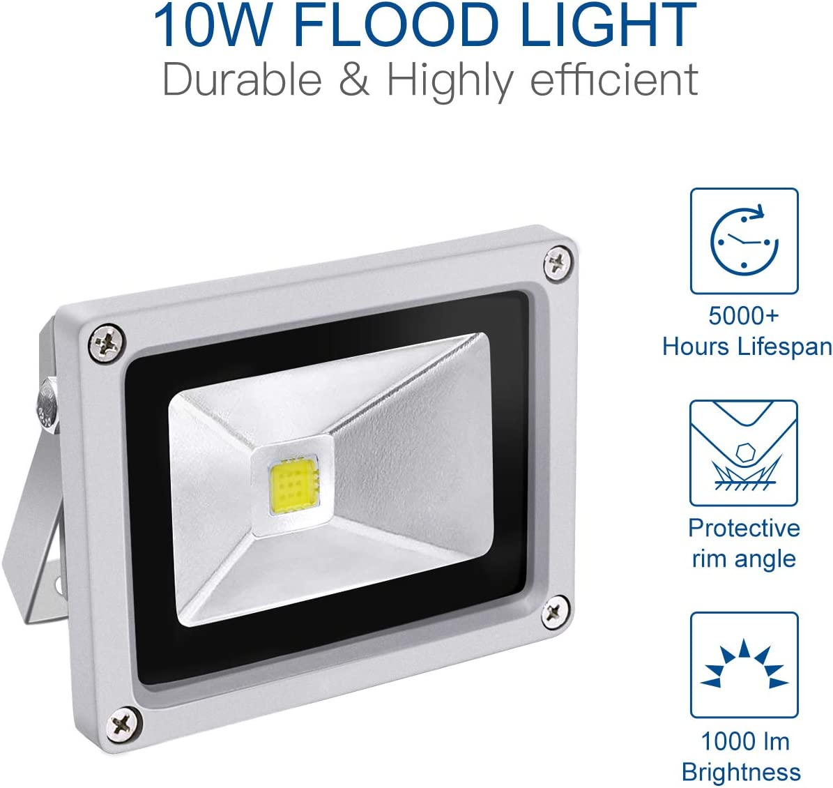 50W 4000LM RGB Change Flood Outdoor Light With Remote Control 85-265V