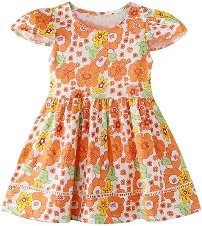 Niños Pequeños Bebés Niñas Princesa Floral Tul Vestido Informal ...