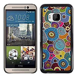 For HTC One M9 , S-type® Cells Biology Pattern Blue Green - Arte & diseño plástico duro Fundas Cover Cubre Hard Case Cover