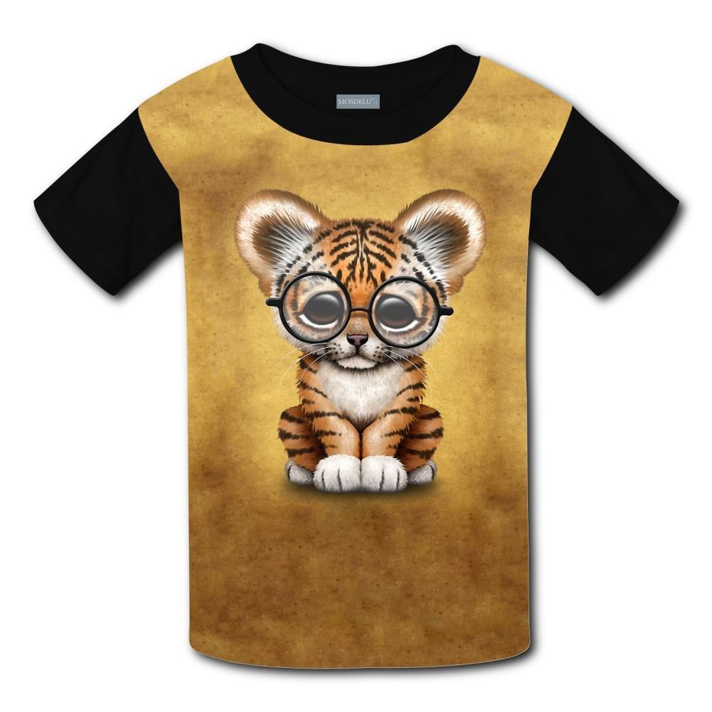 ac5d9fb58 Amazon.com: Hrix T-Shirt Cute Baby Tiger Print Short Sleeve For Children:  Clothing