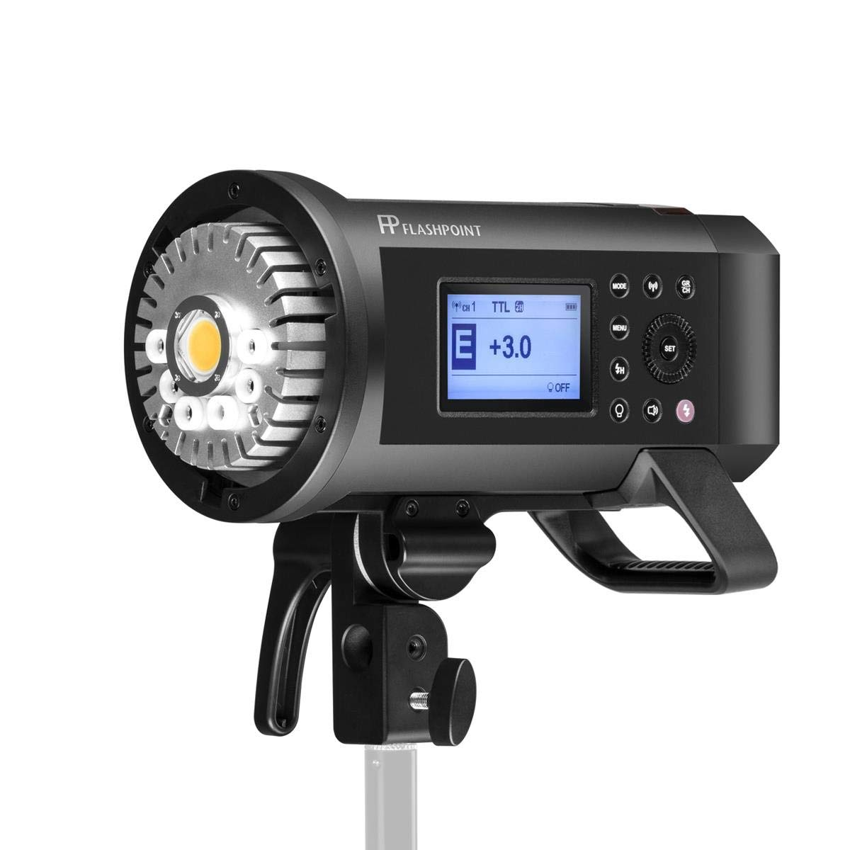 Flashpoint XPLOR 600PRO R2 HSS Battery-Powered Monolight Kit with Glow ParaPop and C-Stand. by Flashpoint (Image #3)