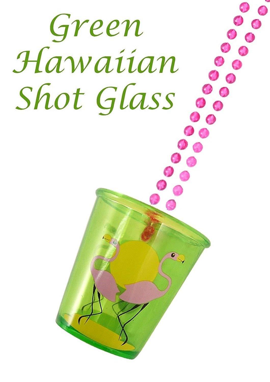 8 x Hen Night party shot glaases 4 astd colours Hawaiian theme BBQ Beach party