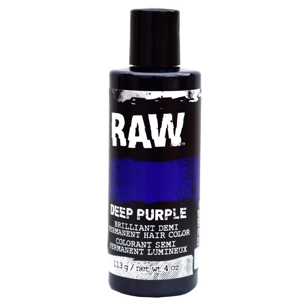 Deep Purple Hair Color, Demi-Permanent 4 oz by RAW. Veggie-Based, Scented, Long-Lasting Temporary Hair Dye that Lasts 3 to 6 Weeks. Never Tested on Animals