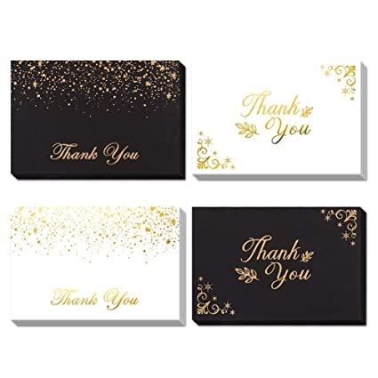 Amazon Com 36 Thank You Cards Blank Note Cards With Envelopes And