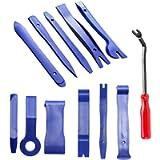 Auto Trim Removal Tool, 12Pcs Car Panel Removal Tool Interior Trim Kit Fastener Rivet Remover Plastic Pry Tool for…