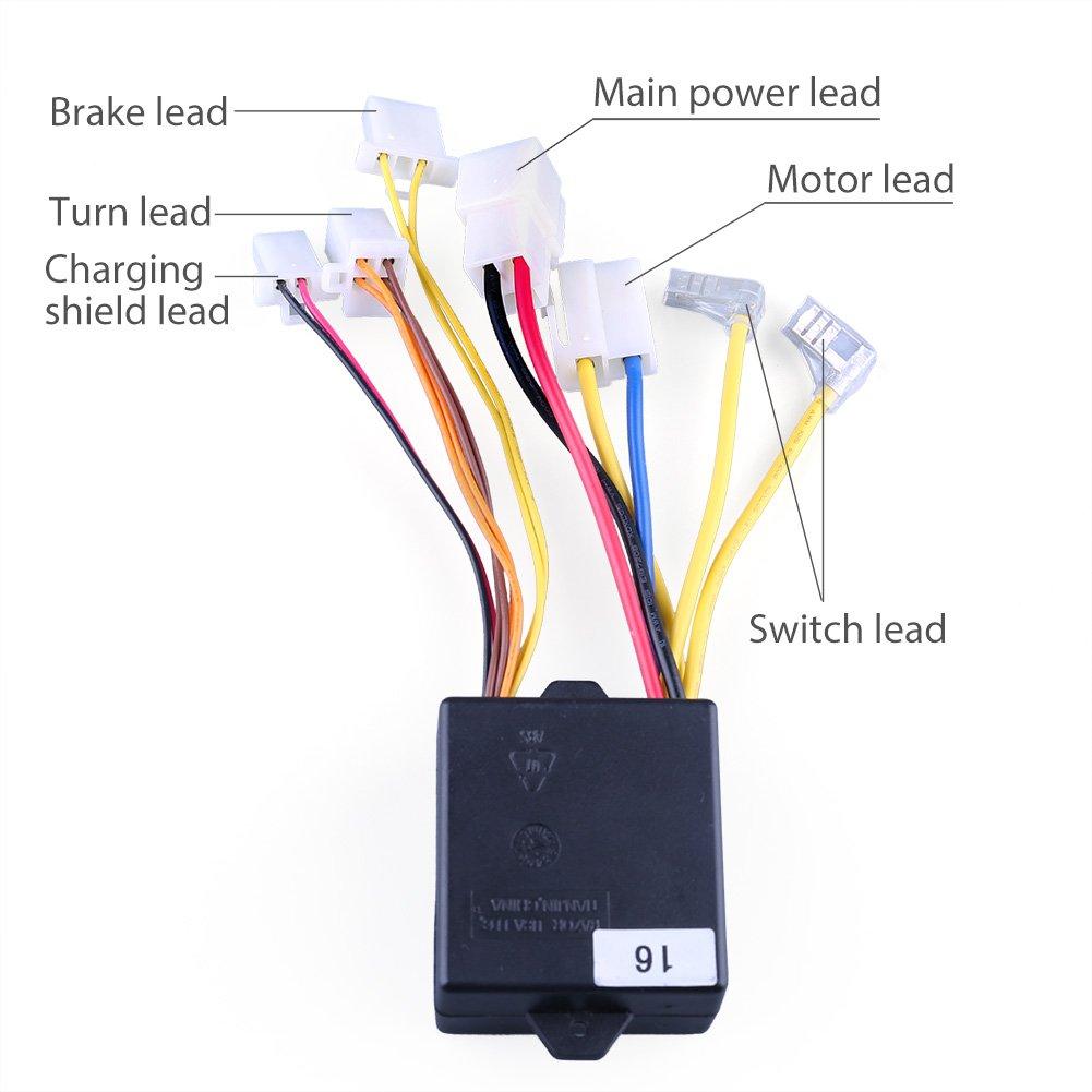 Amazon.com: LotFancy 24V Control Module with 7 Connectors for Razor  E100(V10+), E125 (V10+), E150 (v1+), E175 (V18+), eSpark(V41+), Trikke E2(V1+)  Models, ...