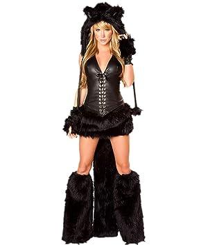 Disfraz De Gato Mujer Disfraces Animal Cosplay Catsuit Para - Disfraz-de-gata-para-halloween