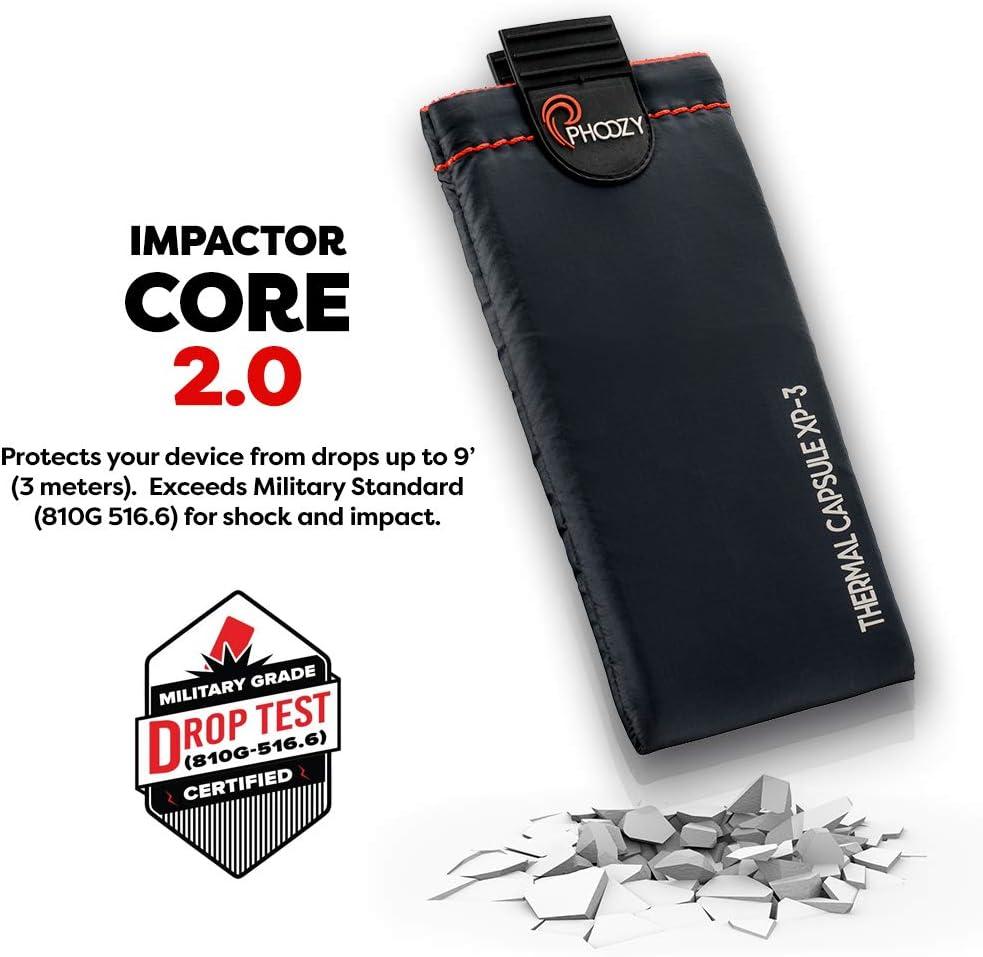 Batterielaufzeit Verl/ängern Smartphone Schutzh/ülle mit Geld- /& Kartenfach I Hitze- /& K/älteresistent I Wasserdicht I Handysocke mit Aufprallschutz Phoozy XP3 Plus Silber Energiesparend