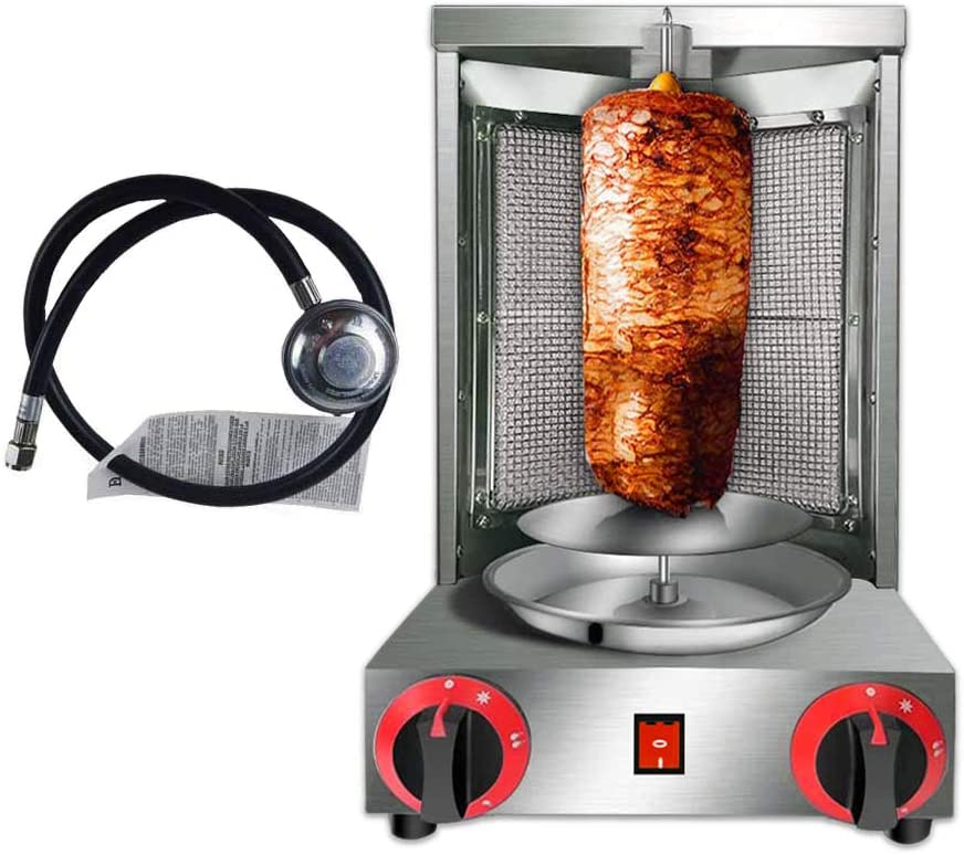 Zz Pro Shawarma Doner Kebab máquina Gyro parrilla con 2 quemadores Vertical Broiler para Comercial Hogar Cocina: Amazon.es: Hogar