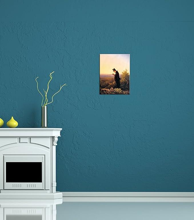 Leinwandbild Carl Spitzweg Das Abendbrevier 30x40cm hochkant Wandbild Alte Meister Kunstdruck Bild auf Leinwand Ber/ühmte Gem/älde