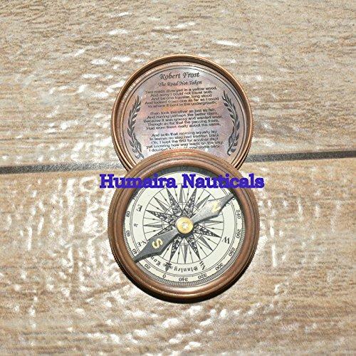 vintage-robert-frost-brass-antique-compas-good-compass-sundial-poem-maritime B076XKL9RR