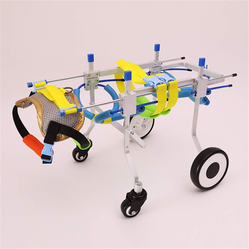 調整可能な犬の車椅子4つの車輪 - 獣医の承認 - Pugとdachshundのための車椅子-XS-WL B07K5CCF8G