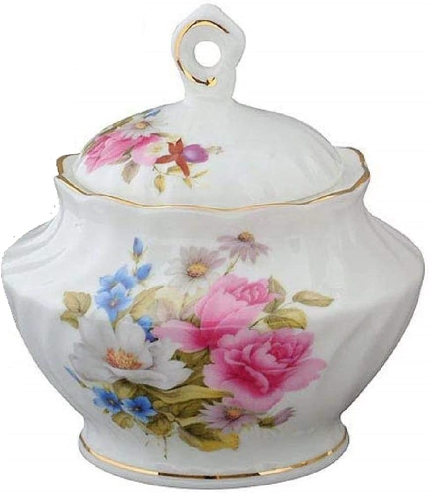 Coastline Graces Rose Sugar Bowl