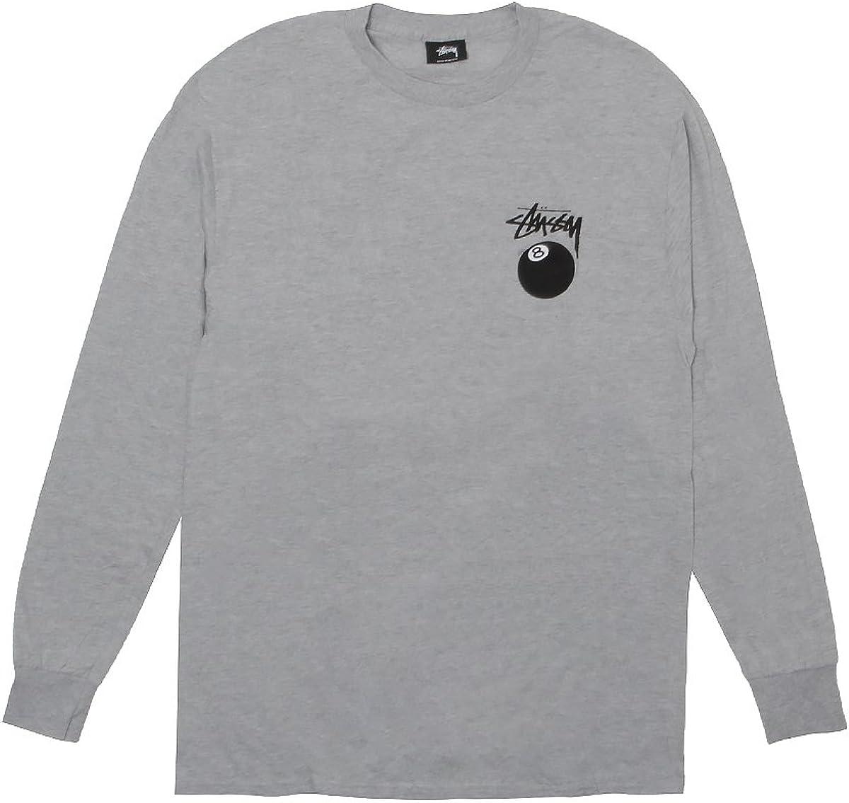 Stussy 8 Ball 1993759-ghea camiseta de manga larga para hombre gris Heather: Amazon.es: Ropa y accesorios