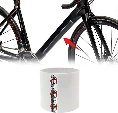 4R Quattroerre.it Quattroerre - Rollo de Cinta Adhesiva para protección de Cuadro de Bicicleta, Unisex, Adulto, Transparente, 12 x 300 cm
