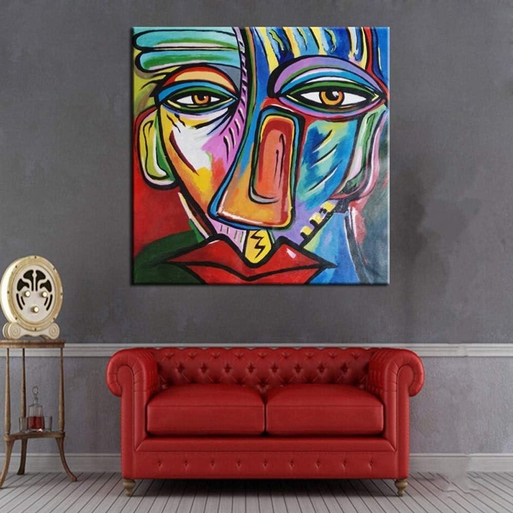 ZHUAIBA Hecho a Mano Famosa Pintura Sentado Mujeres al Lado de la Ventana por Picasso Moderno Abstracto Retrato de Pared Cuadros para la Decoración Casera 30x30