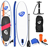 "Goplus Inflatable Stand Up Paddle Board 10/11ft SUP 6"" Thick Non-Slip Deck with with Free Premium SUP Accessories, Backpack, Adjustable Paddle, Hand Pump and Repair Kit, for Youth & Adult"