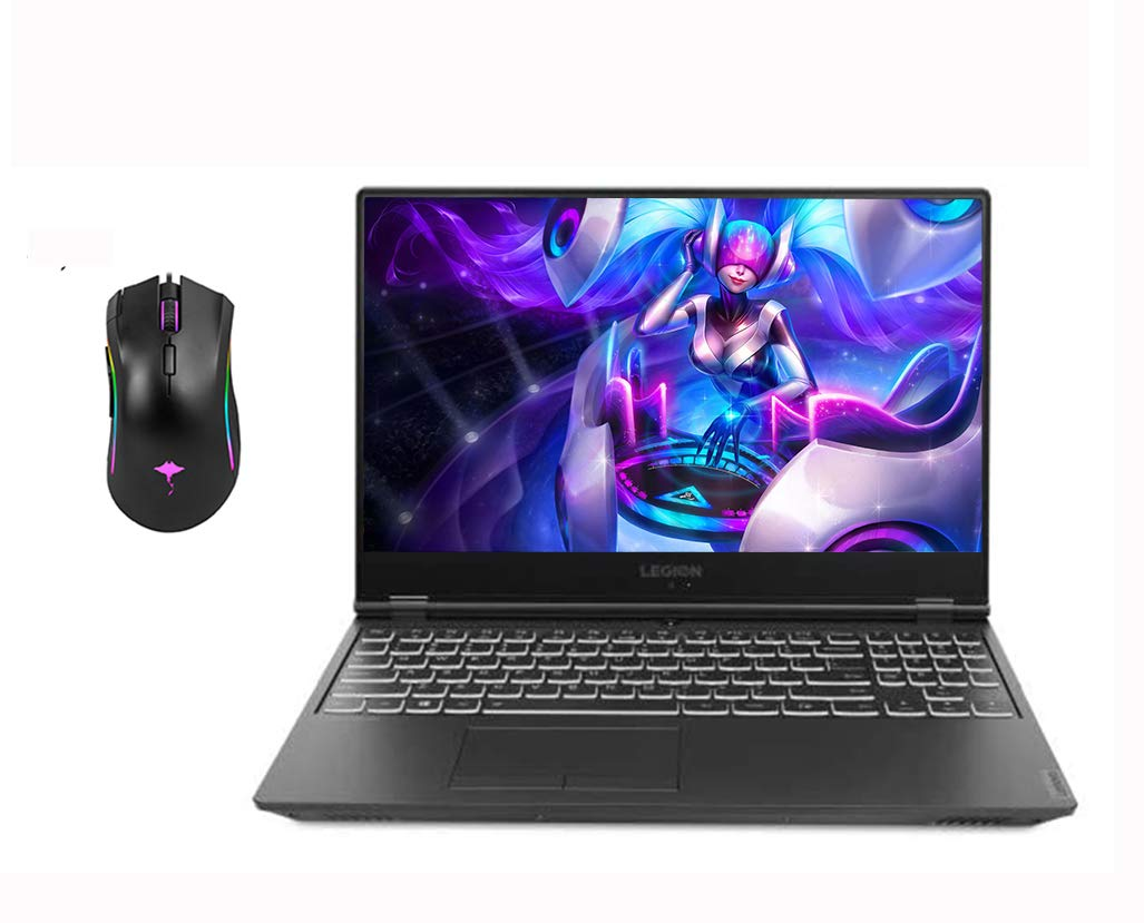 """2020 Newest Lenovo Legion 15.6"""" FHD Gaming Laptop, 144Hz i7-9750H (6 cores 12MB, Beat i7-8700),16GB RAM,256GB SSD, NVIDIA GTX 1660Ti 6GB GDDR6, Legion Ultimate Support Win10 w/Ghost Manta Gaming Mouse"""