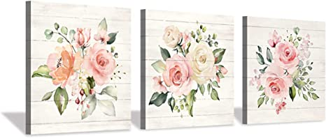 Hardy Gallery Nature Picture Floral Arts Paintings Bloom Antique Roses Bouquet Graphic Artwork Print On Wrapped Canvas For Walls Amazon Ca Home Kitchen