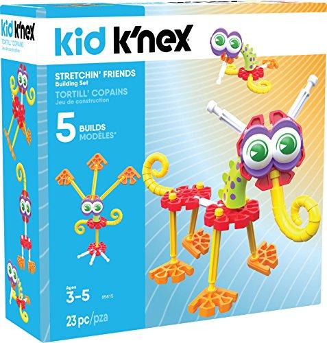 K'NEX Kid Stretchin' Friends Building Set - 23Piece - Ages 3 & Up Preschool Educational Toy Building Set