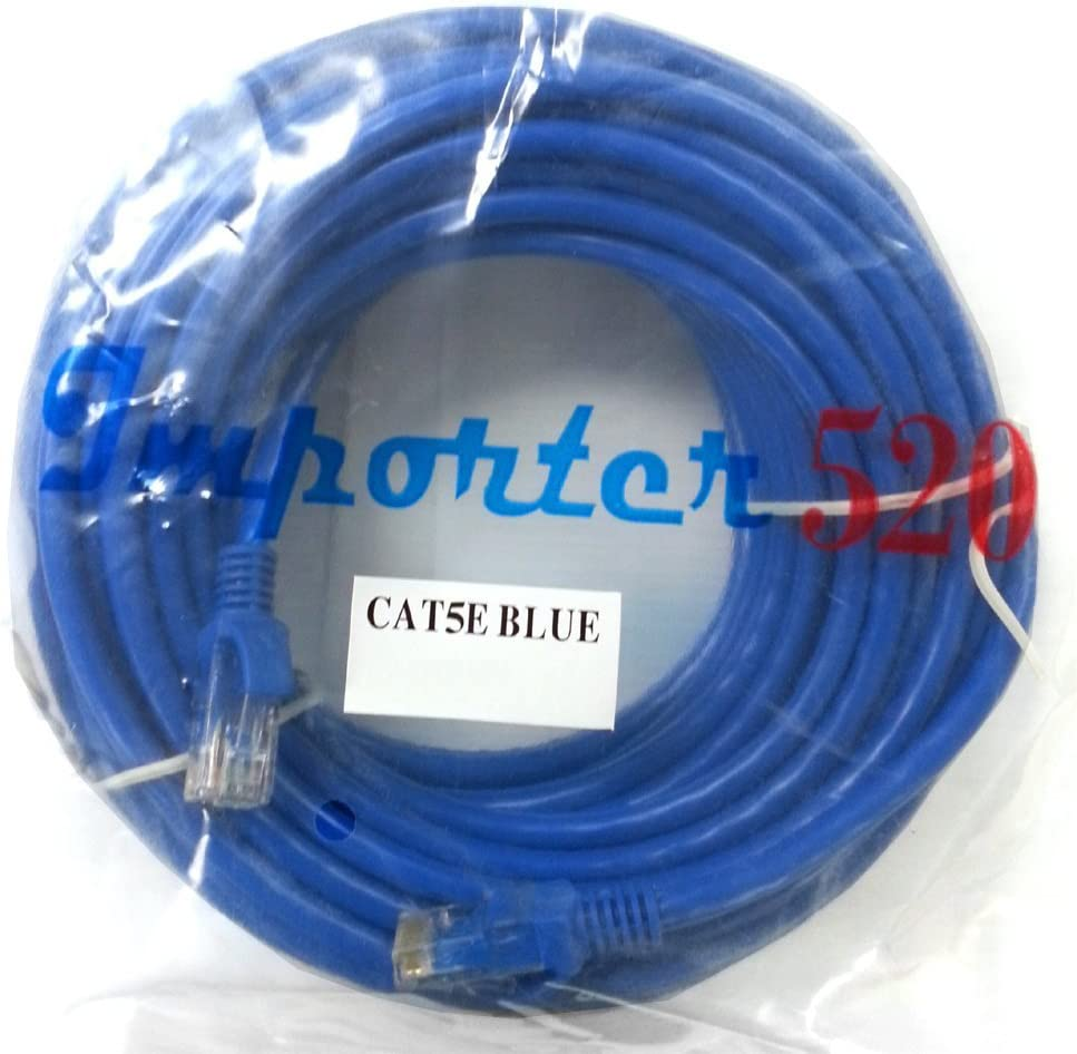 Importer520 BLUE 100FT CAT5 RJ45 PATCH ETHERNET NETWORK CABLE 100' For PC, Mac, Laptop, PS2, PS3, XBox, and XBox 360 to hook up on high speed internet from DSL or Cable internet.