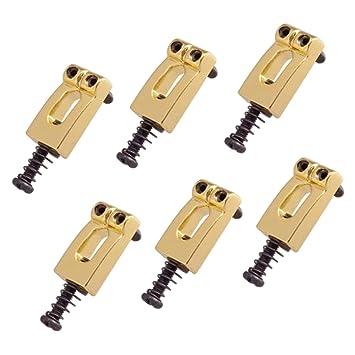 monkeyjack paquete de 6 selletas de puente para guitarra Trémolo para Fender Stratocaster Guitarra reemplazo