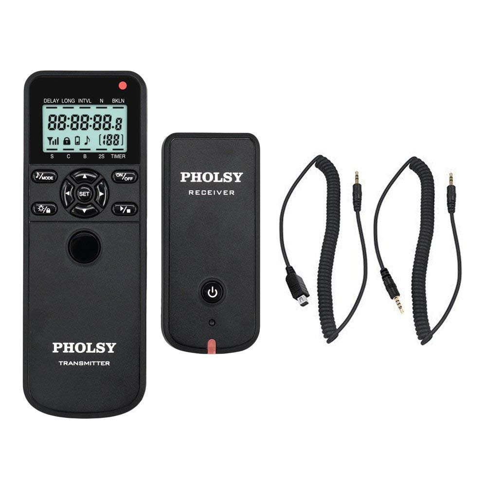 PHOLSY Timer Remote Control Cable with Intervalometer RR90 Shutter Remote Release Cord for Fujifilm GFX 50S X100F X-T10 X-T1 X70 X-A10 X-E2 X100T X-A3 X-E2S X-M1 X-A2 X-A1 X-Pro2 X-T2