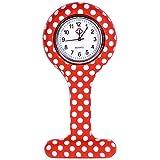 Reloj de Las Mujeres, Moda mxdmai Enfermera con Clip Fob Reloj análogo de Cuarzo de Silicona Enfermera del Bolsillo de…