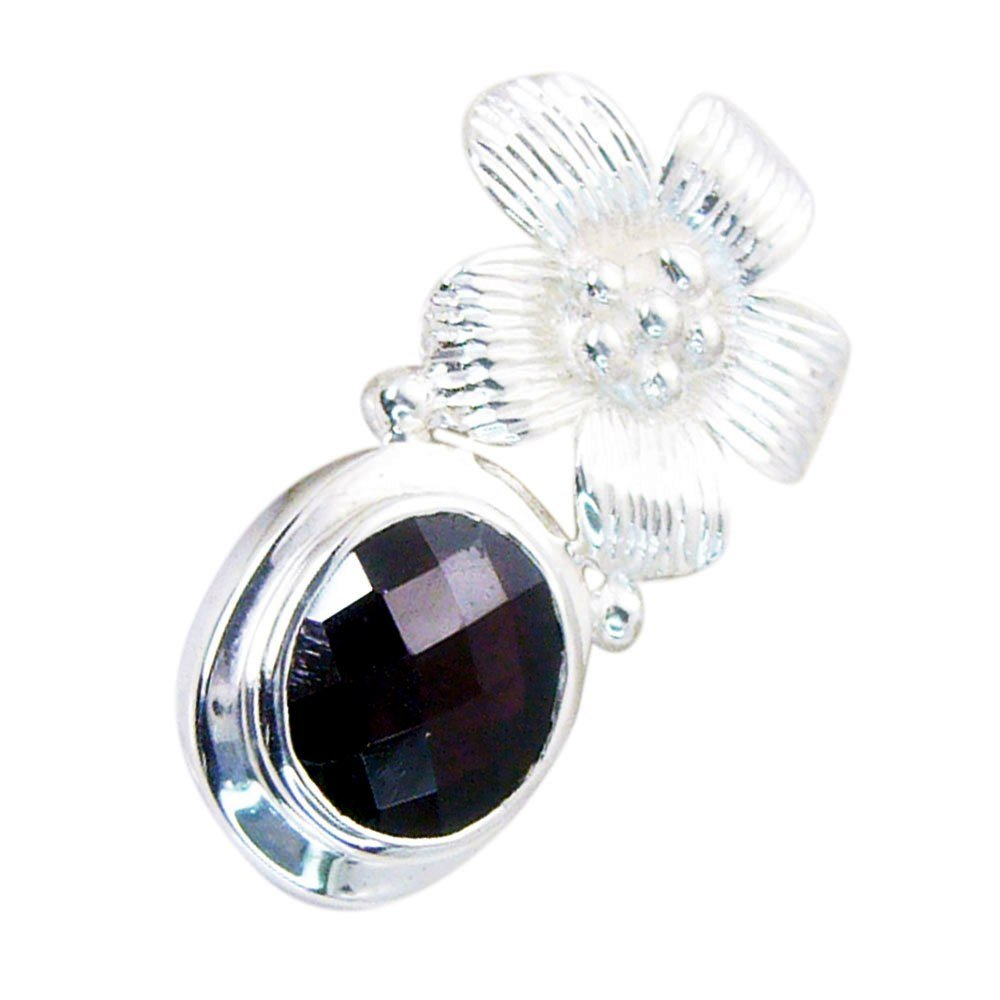 CaratYogi Natural Garnet Pendant for Women Red Birthstone Charms Healing Cheker Cut Astrological Necklace