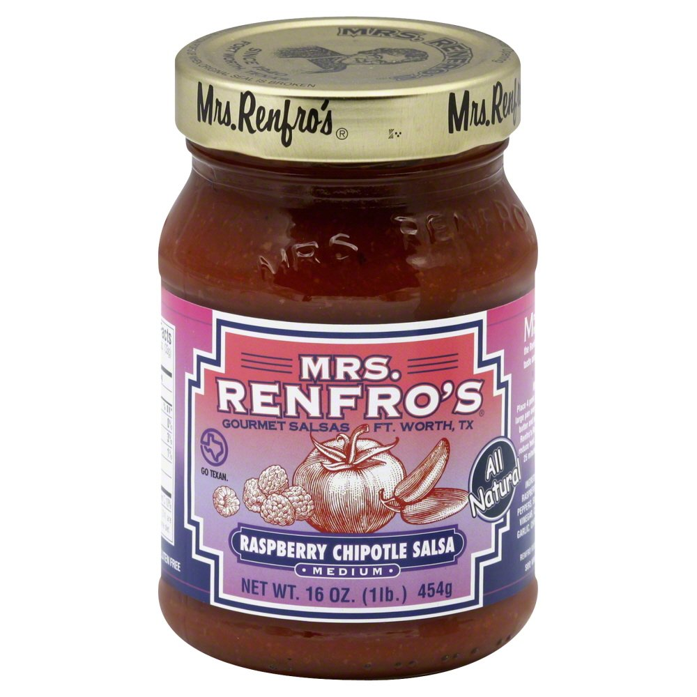 Mrs. Renfro's Salsa Chipotle Raspberry 16.0 OZ(Pack of 6)