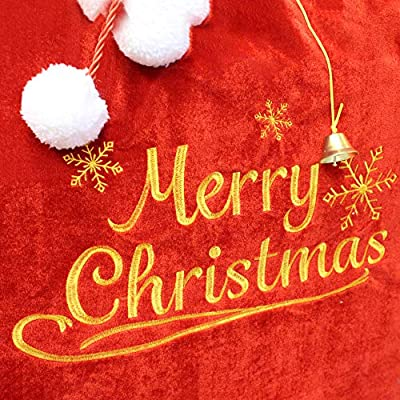 Christmas Santa Sack with Cord Drawstring (31