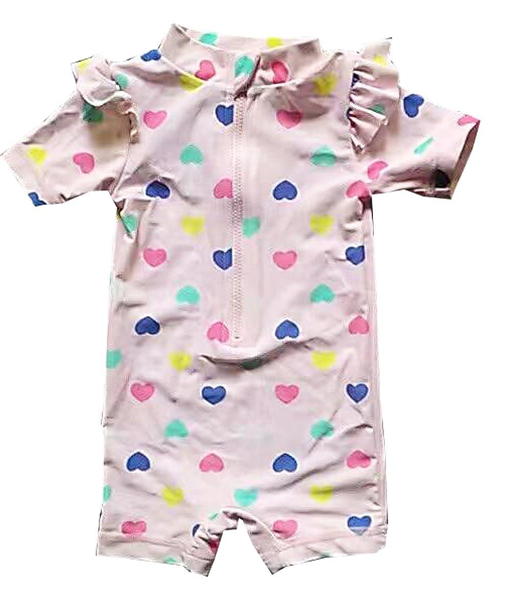 Infant Girls Swimwear One Piece Beach Sunsuits Heart