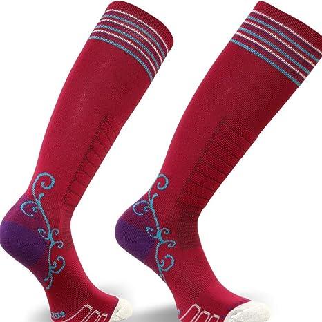 Grey//Jade Medium Eurosock Womens Sweet Silver Ski Socks