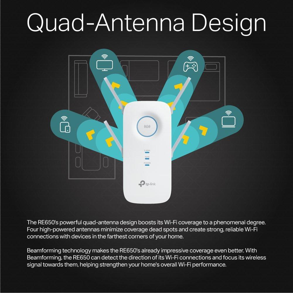 Amazon.com: TP-Link AC2600 Dual Band Wi-Fi Range Extender w/Gigabit ...