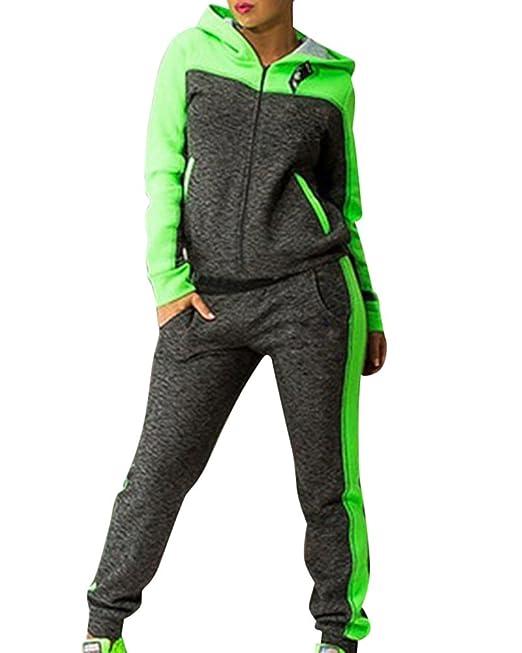 Damen Jogginganzug Jogging Jacke Hose Sportanzug Fitness Trainingsanzug Training