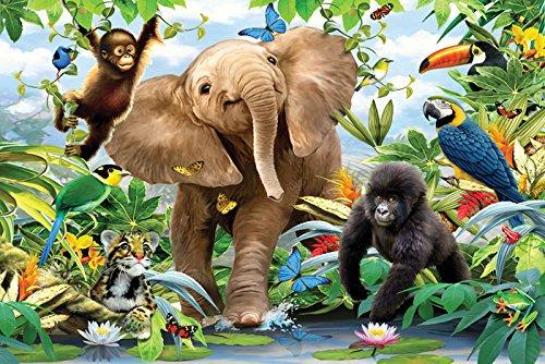 Junior Jungle Art Print, Poster or Canvas