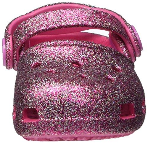 crocs Mädchen Karin Sparkle Clog Kids Mehrfarbig (Multi-color Pink)
