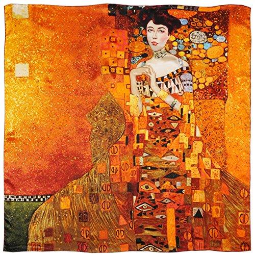 Carré de soie SilkArt Gustav Klimt Portrait d'Adèle