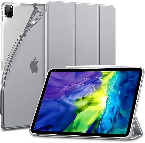 """Image of ESR Funda Inteligente Serie Rebound Slim para iPad Pro 11""""2020(2da generación) [Modo Automático de Reposo/Actividad][Modo Visualización y Modo Escritura][Tapa Trasera TPU Flexible], Gris Plata"""