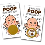 Baby Shower Scratch Off Poop Game | Gender Neutral Baby Shower Game, Prize, Icebreaker, Activity | 25 Pack 3 Winners