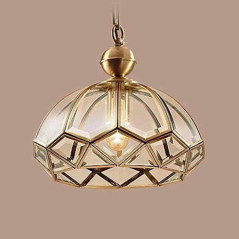 Candtong Luminaria de Techo LED Interior de Cobre, lámpara ...
