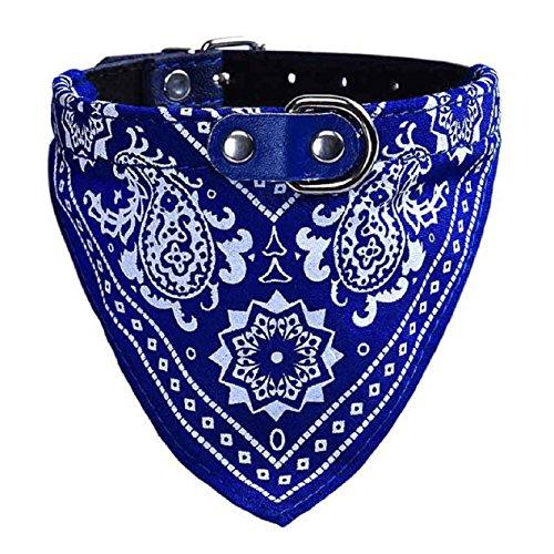 Malloom Einstellbar Haustier Hund Hündchen Katze Hals Schal Bandana Halsband Halstuch (S, blau)