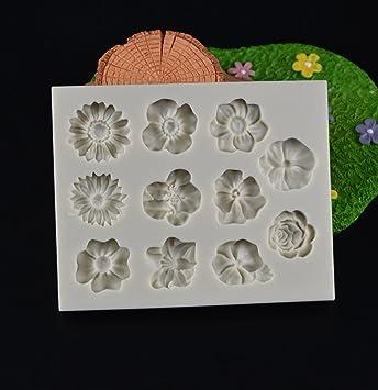 Amazon.com: Clay Extruders - 11 Holes Flower Shape Cake ...